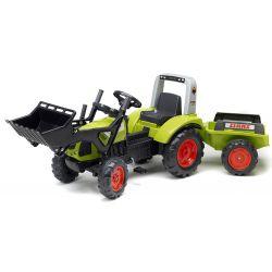 Tractor cu pedale FALK 1040 Clas Arion 430, cu cupă și remorcă