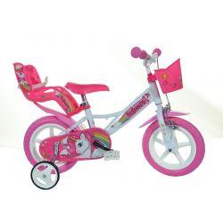 """DINO Bikes - Bicicletă pentru copii 12"""" 124RLUN Unicorn"""