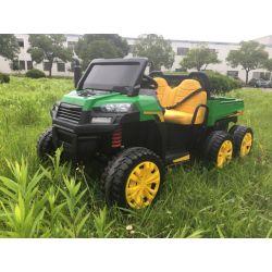 Mașinuță electrică FARM RIDER 6X6 cu tracțiune pe 4 roți, baterie 2x12V, roți EVA, suspensii, telecomandă 2,4 GHz, 2 locuri,  MP3 player cu intrare USB / SD, Bluetooth