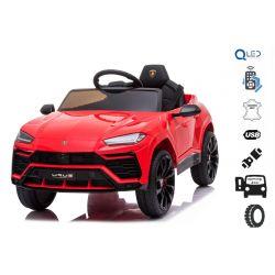 Mașinuță electrică pentru copii, Lamborghini URUS, Roșie, licențiată originală, alimentată cu baterii, deschidere uși,  2x motoare, baterie 12 V, telecomandă 2,4 Ghz, roți moi EVA , suspensii, pornire lină