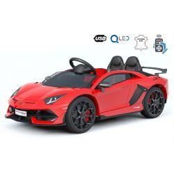 Masinuta electrica pentru copii Noul Lamborghini Aventador, Roșu, Licență Originală, Cu Baterii, Uși care se deschid vertical, 2x motoare, Baterie 12 V, Telecomandă de 2.4 GHz, Roți Eva moi, Suspensii, Pornire lentă.