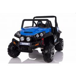 Mașinuță electrică pentru copii RSX tip ATV, Albastră-2.4Ghz, 4x Motoare, telecomandă, 2 scaune din piele, roți ușoare Eva, Radio FM, Bluetooth